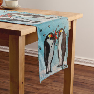 Penguin Love Christmas/Winter Table Runner