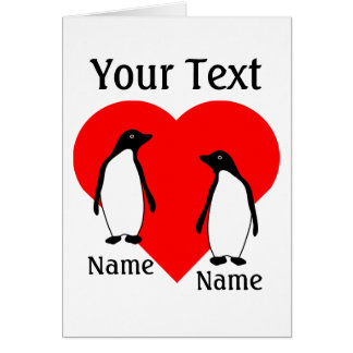 Penguin Love Couple Greeting Card