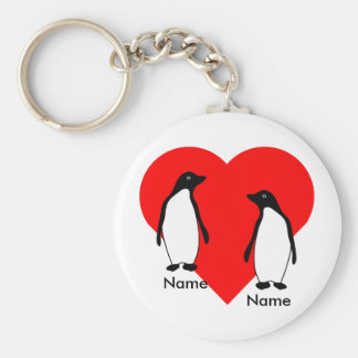 Penguin Love Couple Keychain