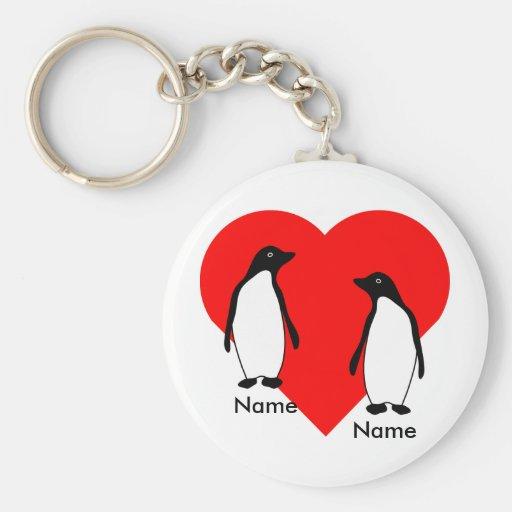 Penguin Love Couple Keychain