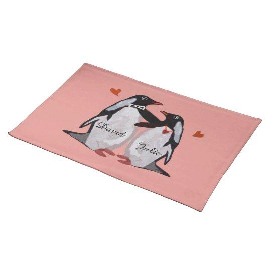 Penguin Love Couples Custom Placemats