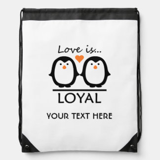 Penguin Love custom bag