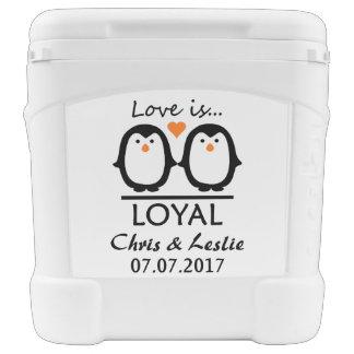 Penguin Love custom cooler