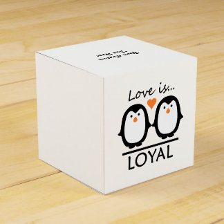Penguin Love custom favor boxes
