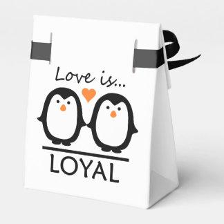 Penguin Love custom favor boxes