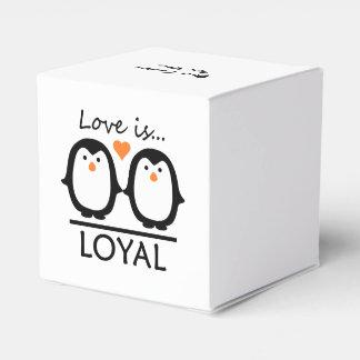 Penguin Love custom favor boxes Wedding Favour Boxes
