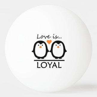 Penguin Love custom ping pong balls