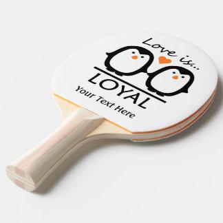 Penguin Love custom ping pong paddle