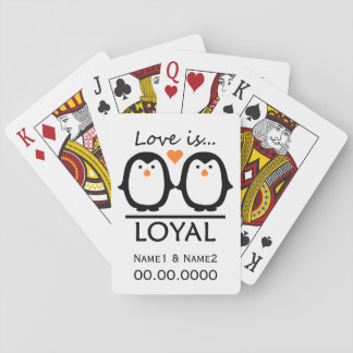 Penguin Love custom playing cards