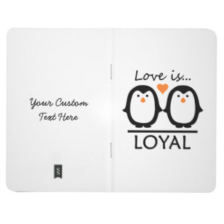 Penguin Love custom pocket journal