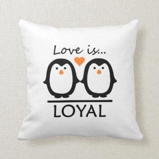 Penguin Love custom throw pillow