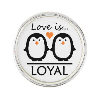 Penguin Love lapel pin