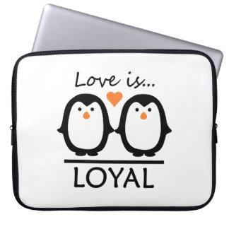 Penguin Love laptop sleeves