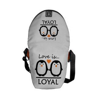 Penguin Love mini messenger bag