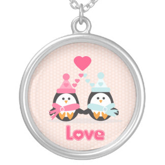 Penguin Love Silver Plated Necklace