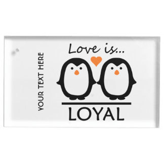 Penguin Love table card holder