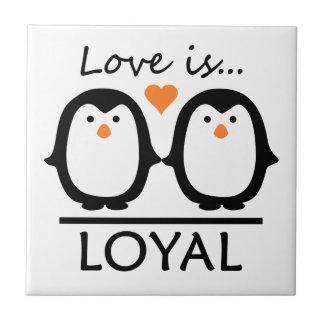 Penguin Love tile
