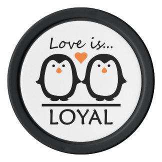 Penguin Love wedding date chips