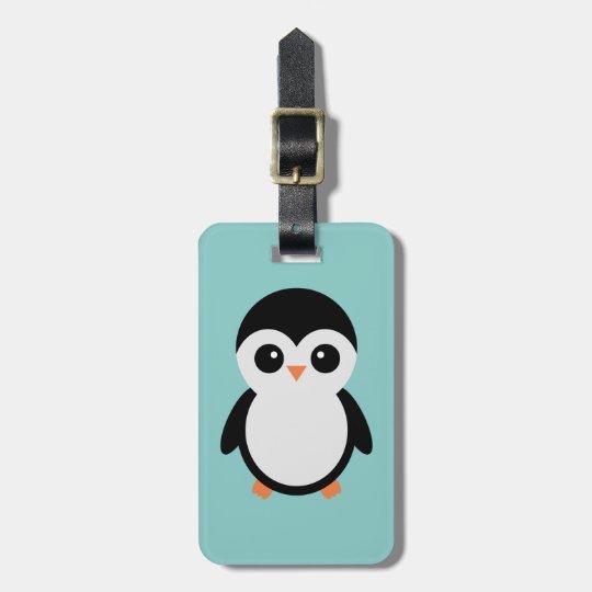 Penguin luggage tag
