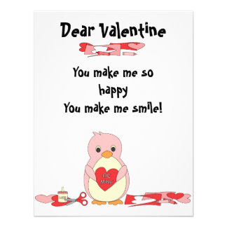 Penguin Making Valentines Personalized Invite