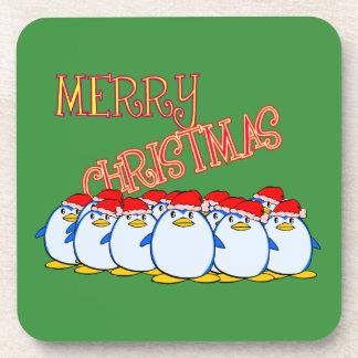 Penguin Merry Christmas Coaster