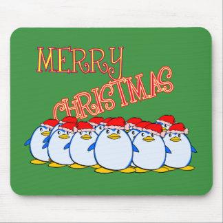 Penguin Merry Christmas Mousepad