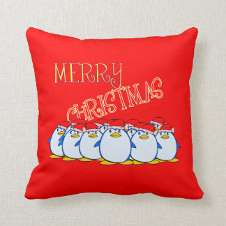 Penguin Merry Christmas Pillow