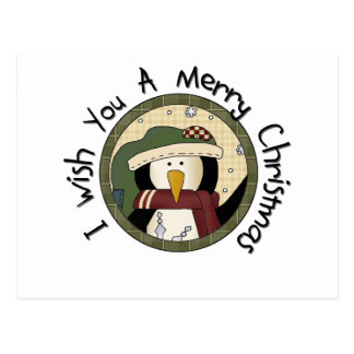 Penguin Merry Christmas T-shirts and Gifts Postcard