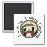 Penguin Merry Christmas T-shirts and Gifts Square Magnet