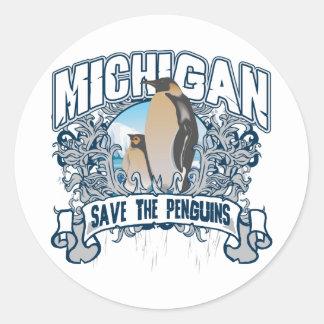 Penguin Michigan Classic Round Sticker