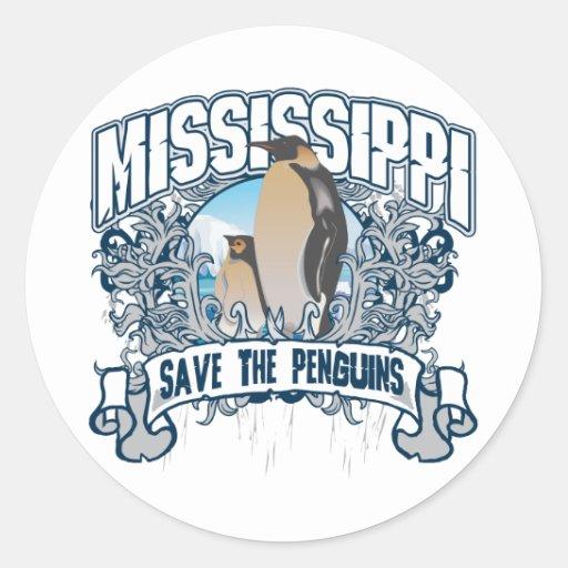 Penguin Mississippi Stickers