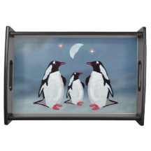 Penguin Moon Serving Tray