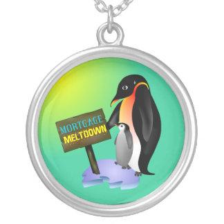 Penguin Mortgage Meltdown Custom Necklace