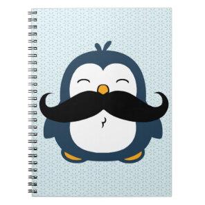 Penguin Moustache Trend Notebook