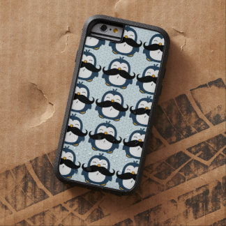 Penguin Mustache Trend Pattern Tough Xtreme iPhone 6 Case