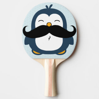 Penguin Mustache Trend Ping Pong Paddle