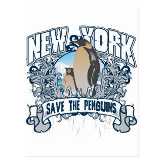 Penguin New York Postcard