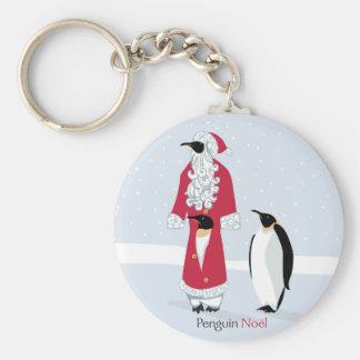 Penguin Noel Basic Round Button Key Ring