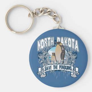 Penguin North Dakota Key Ring