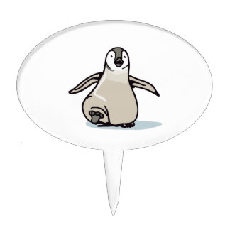 PENGUIN ON ICE CAKE TOPPERS