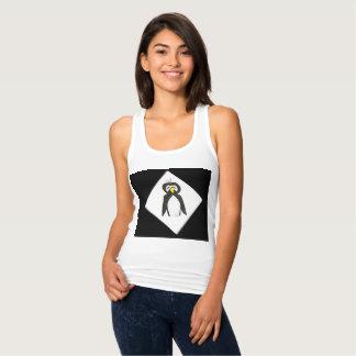Penguin on White Tank Top