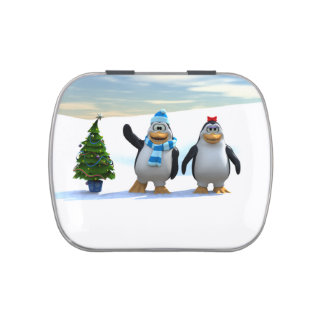 Penguin Pair Jelly Belly Candy Tins