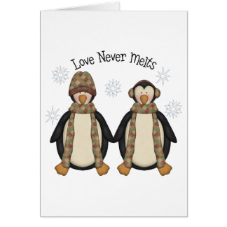 Penguin Pals · Love Never Melts Card