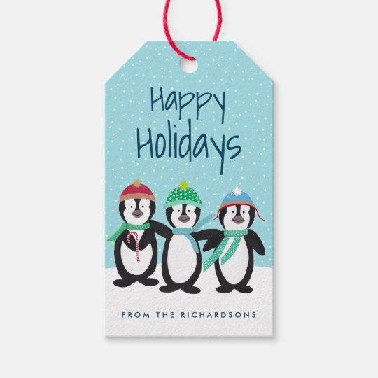 Penguin Pals Personalised Gift Tags