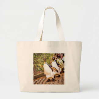 Penguin Parade Canvas Bags