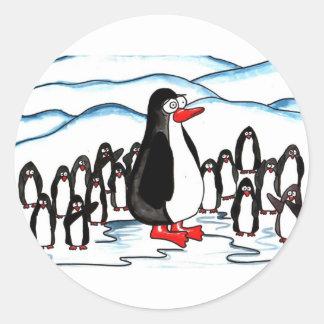 Penguin Paradise Round Sticker