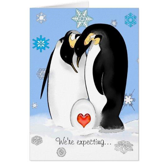 Penguin Parents Baby Shower Invitation
