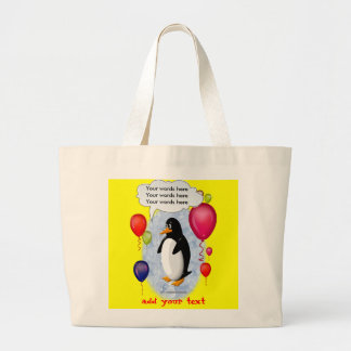 Penguin Party Animal Large Tote Bag