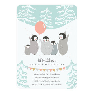 Penguin Party Card
