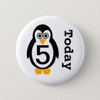 Penguin Party Customisable Age Badge